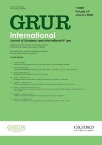 Cover of the new GRUR International